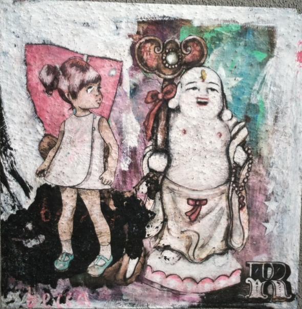 Street Art_Girl and Buddha_Robertson Blvd.